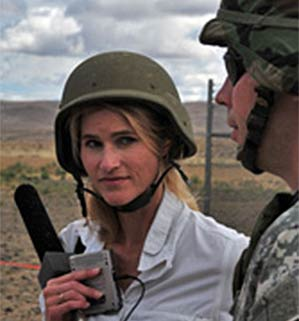 Heather Bosch reporting live-fire training with NAtional Guard troops heading to war
