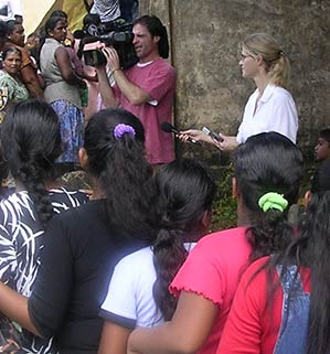 Heather Bosch reporting from Sri Lanka after a deadlu tsunami strikes